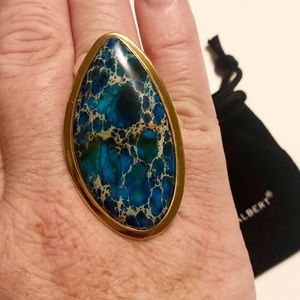 Charles Albert Alchemia Blue Jasper Ring